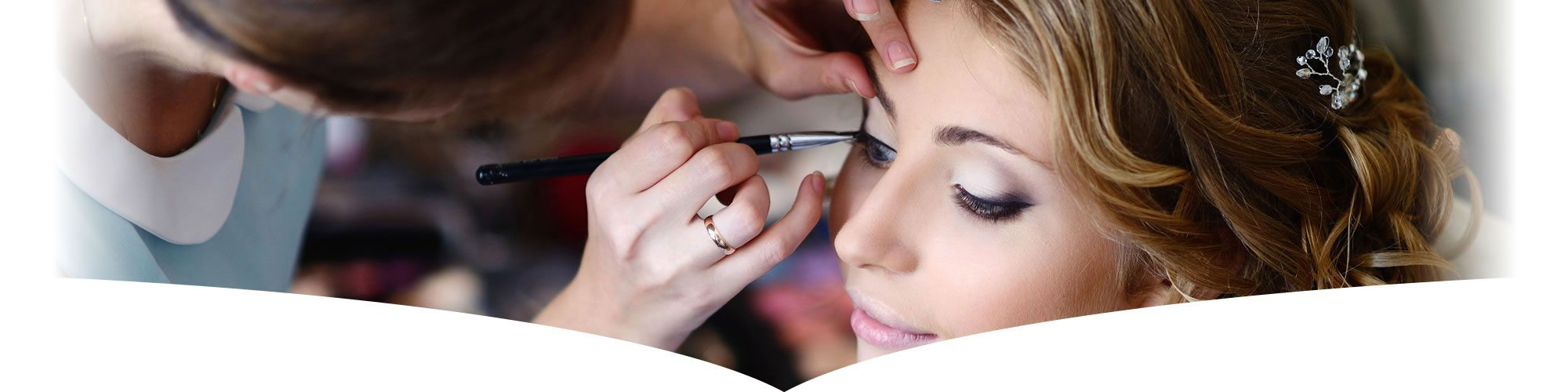 Professional make up being applied for client in Chester